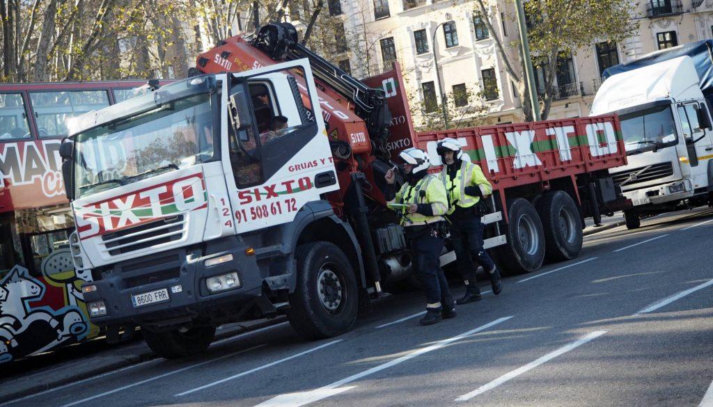 Los camiones pesados no podrán circular por Madrid del 3 al 5 de enero