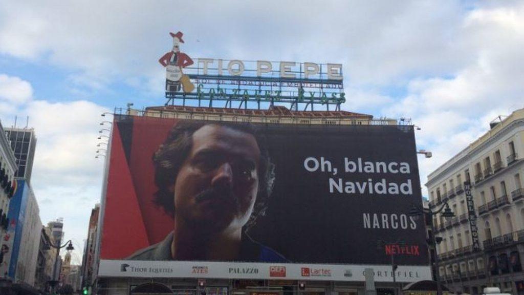 """Colombia pide que se retire el anuncio de """"Narcos"""" en Madrid"""
