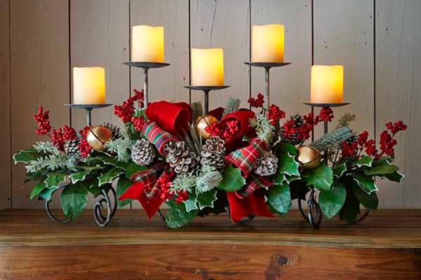El buen gusto y la elegancia en los centros para tu mesa de Navidad