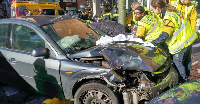 La calle Alcalá es el escenario de un accidente con diversos heridos