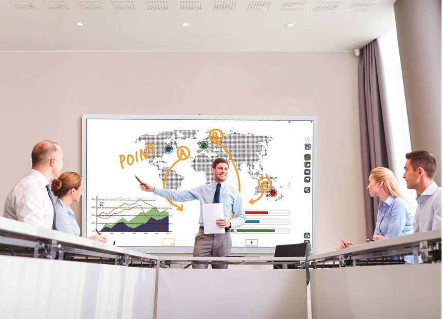 La pizarra interactiva cognitiva un participante más en las reuniones de trabajo