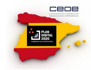 237 propuestas de la CEOE en el Plan Digital 2020 para impulsar la necesaria Transformación Digital de España