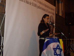 """Yolanda Couceiro: """"Si algún día cae Israel, Europa irá detrás de forma inmediata"""""""